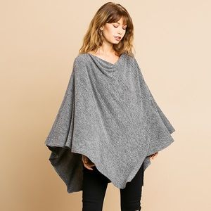 Poncho gray s/m, m/l